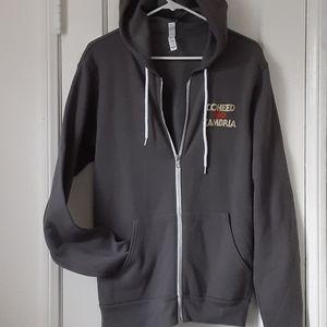 Coheed & Cambria Gray Zip Up Sweatshirt Hoodie M
